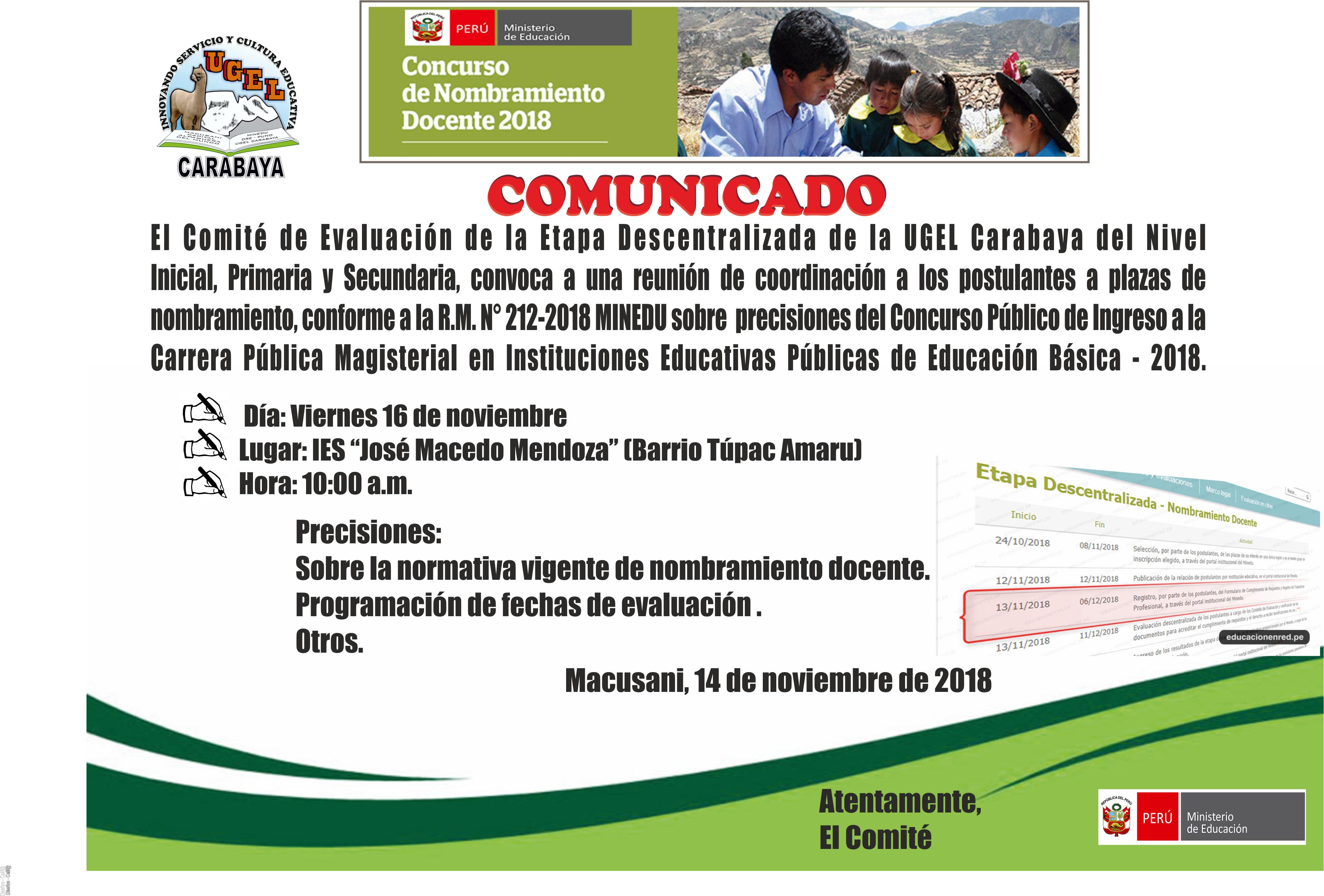 UGEL Carabaya – Unidad de Gestión Educativa Local